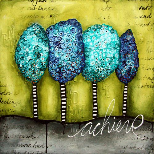 Turquoise trees text achieve by @Donna Vu downey