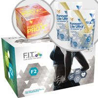 Forever F.I.T. 2 will take you to the next level by helping you to tone your body, burn more calories and transform. Lean muscle is essential to weight loss for both men and women, and Forever F.I.T. 2 programme will help you learn how to build it and sustain it!    Your F.I.T. 2 pack includes:  Aloe Vera Gel® – 4X – 1 liter bottles Forever Lite Ultra Shake® – 2 Vanilla pouches Forever Therm™ – 60 tablets Forever Fiber™ – 30 sticks Forever Garcinia Plus® – 70 softgels Forever PRO X²™