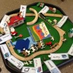 An amazing story tray Check this link for more ideas related to The Train Ride