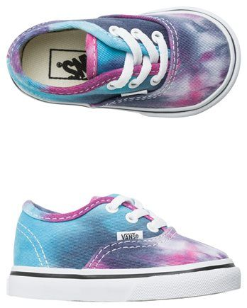 Vans tie dye toddler shoe. http://www.swell.com/Vans-Footwear/VANS-TODDLER-AUTHENTIC-TIE-DYE-SHOE?cs=MU
