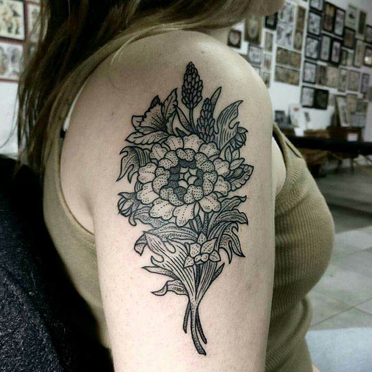 PINTEREST: @mars.upial  INSTA: @mars.upial (all rights reserved, do not copy any part of the tattoo as it was custom made and has one only and unique meaning) #tatts #bouquettattoo #bouquet #floraltattoo #tattoo #dottattoo #dotattoo #pointillism #armtattoo
