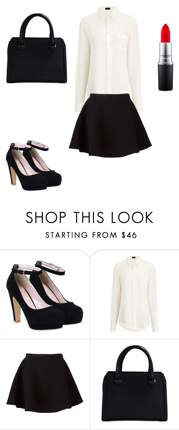 """""""Victoria's waitress outfit"""" by styles9401 on Polyvore featuring Joseph, Neil Barrett, Victoria Beckham and MAC Cosmetics"""
