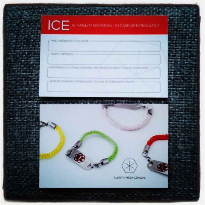 Karty ICE - Alerty medyczne