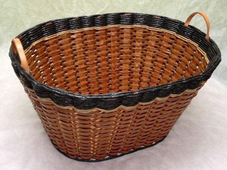 Laundry Basket w/Leather Handles