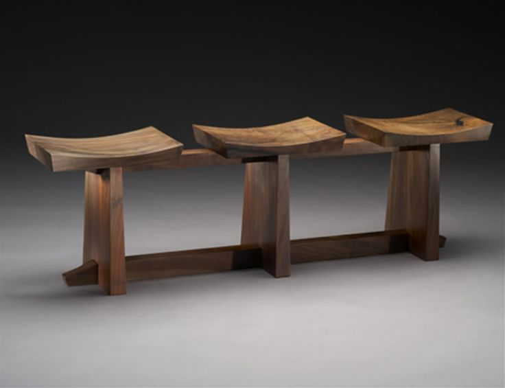 Grafted Bench designed Brian Hubel. This is very minimalist and functional design. many people will find seperated seats more comfortable as it will allow them to have their own little space and privacy.