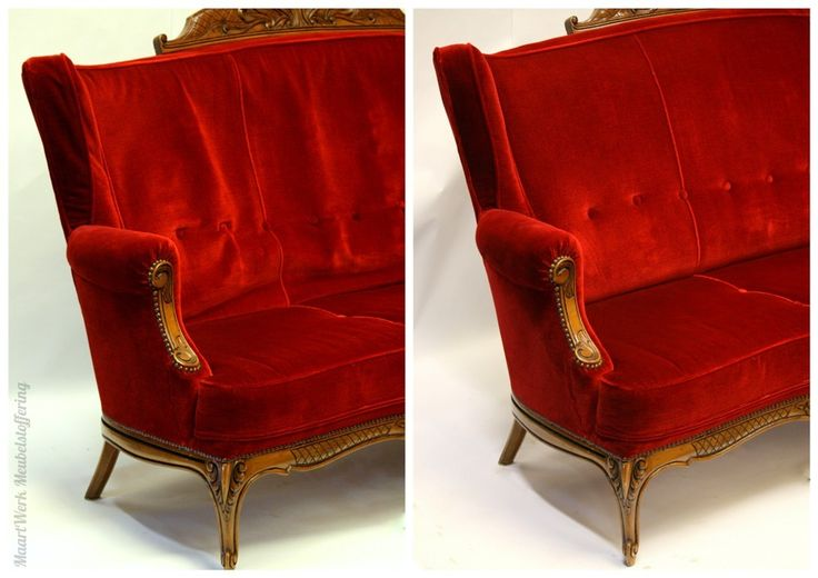Upholstery classic seat, before and after.