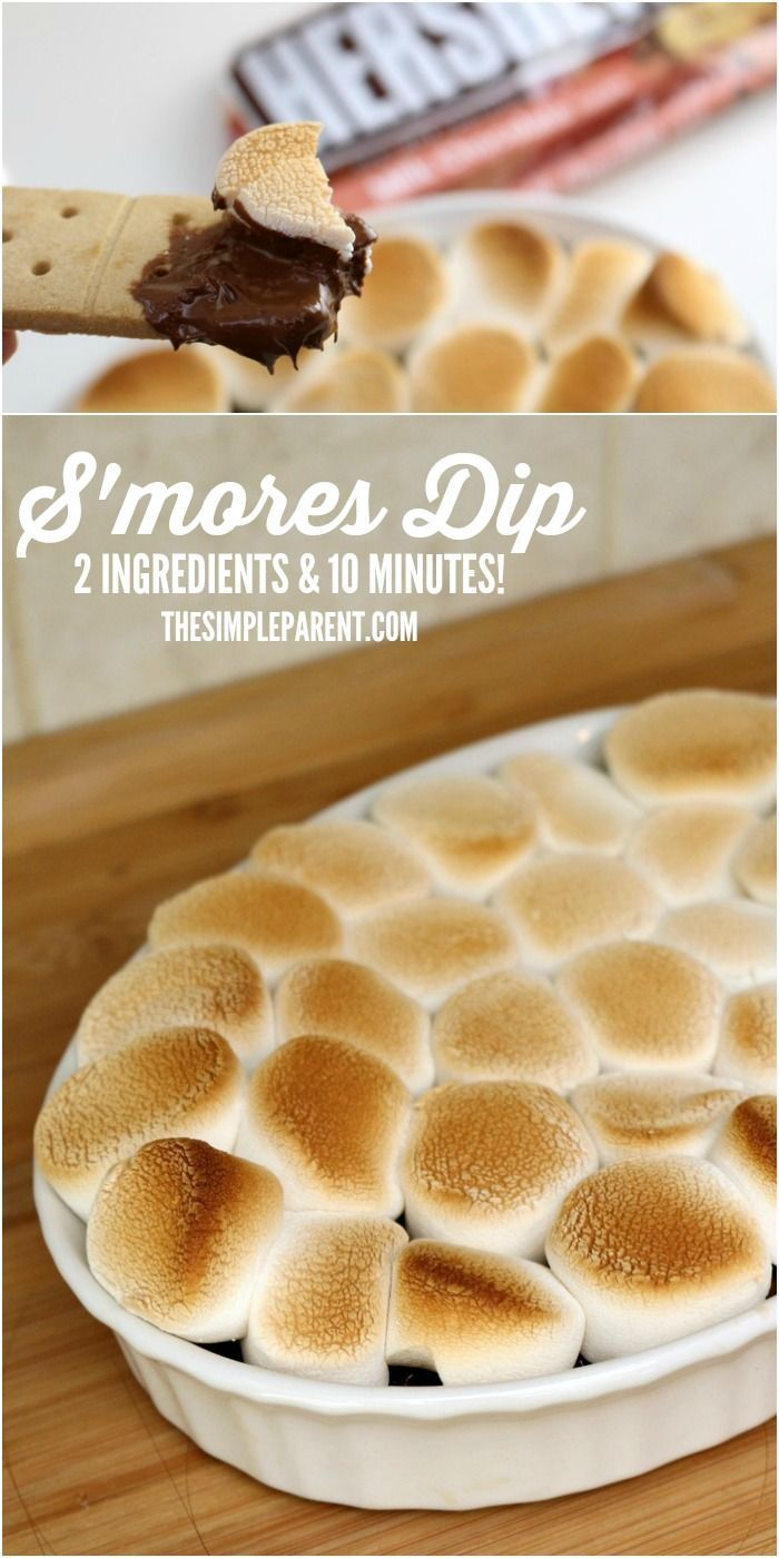 Have fun in the kitchen with your kids and this easy Smores Dip recipe! #HelloHappy #IC AD