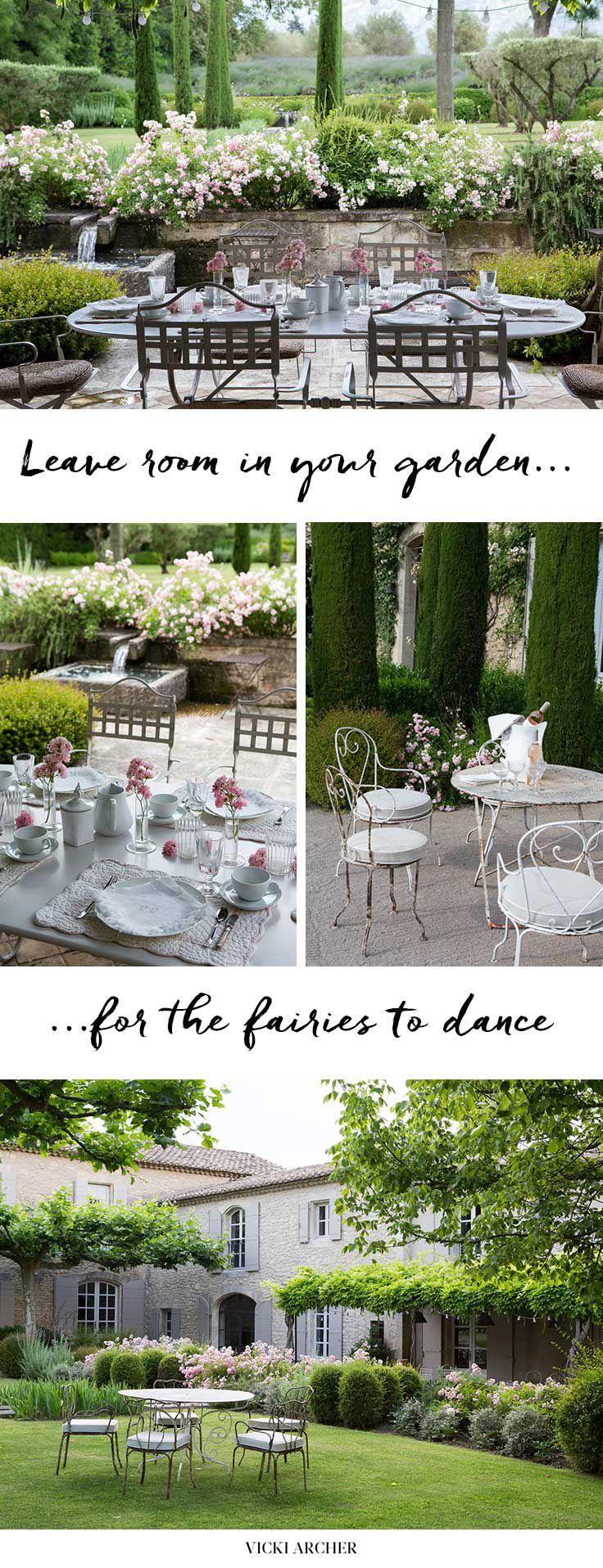 French backyard gardens - Summer In St Remy Vicki Archer Romantic Backyardterrace Designbelgian Stylefrench Homesformal Gardenspatio