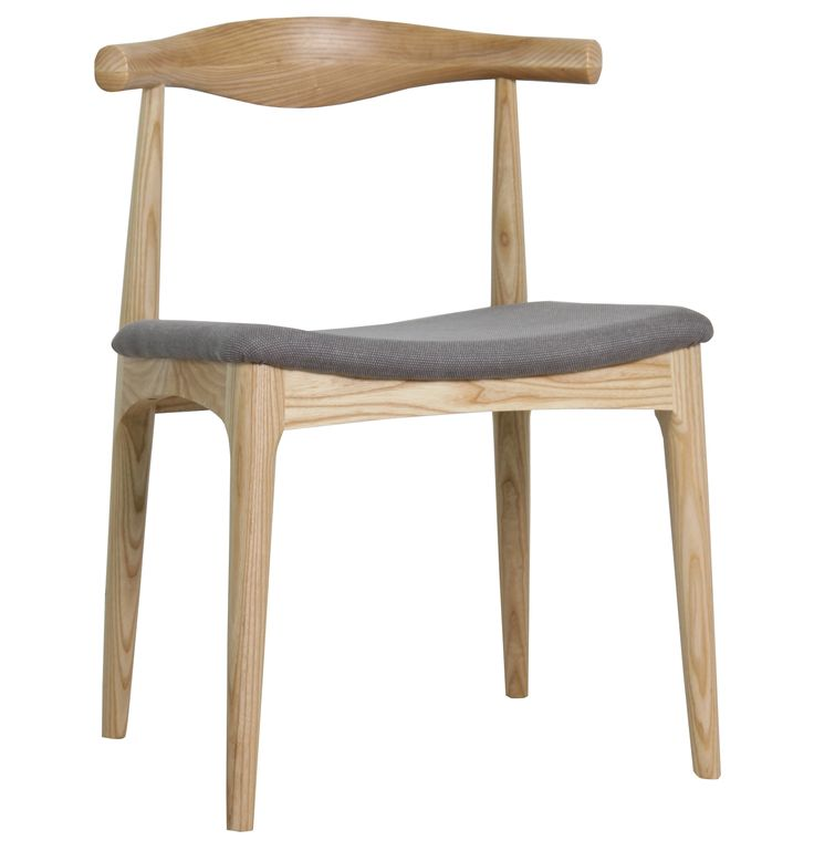 REPLICA HANS WEGNER ELBOW CHAIR CH20 - Fabric - Matt Blatt