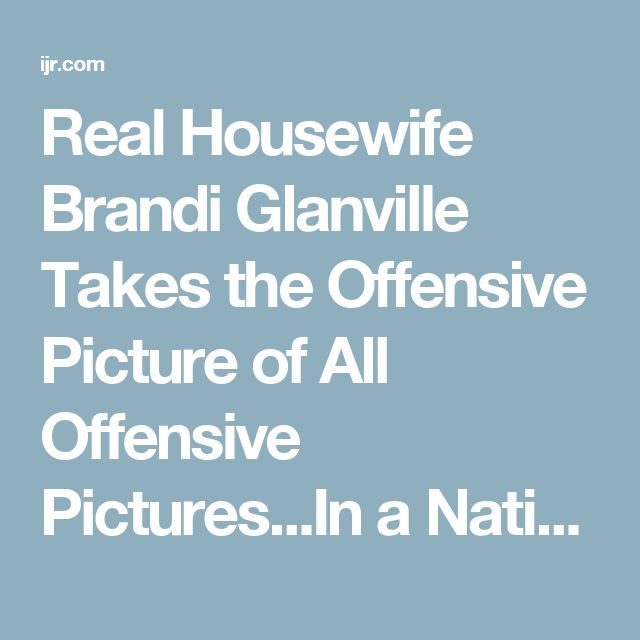 Real Housewife Brandi Glanville Takes the Offensive Picture of All Offensive Pictures...In a Nativity Scene