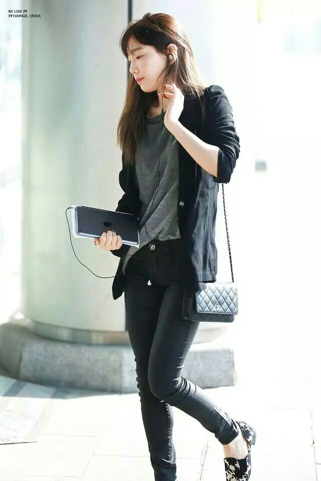 snsd taeyeon kpop airport fashion style i like