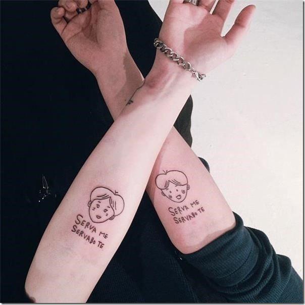 ▷ Friendship tattoos for those who share confidences – #Bestfriendtattoos #Fatherdaughtertattoos #Friendshiptattoos #Matchingtattoos