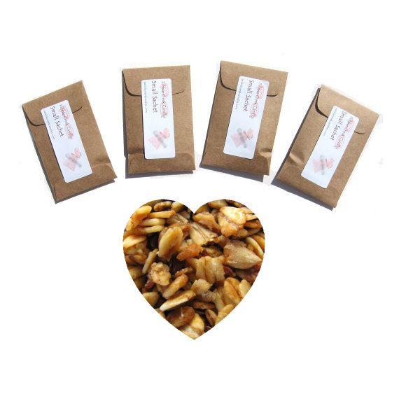 4 Amish Baked Oatmeal scented sachets handmade fresh by pebblecreekcandles, #sachets #etsy #kraft