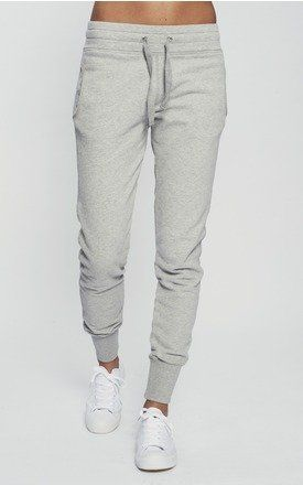 SKINNY FIT TRACKSUIT BOTTOMS (LIGHT GREY) - SilkFred