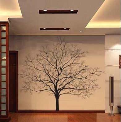 Maybe you could take family pictures and hang on wall to look like a family tree