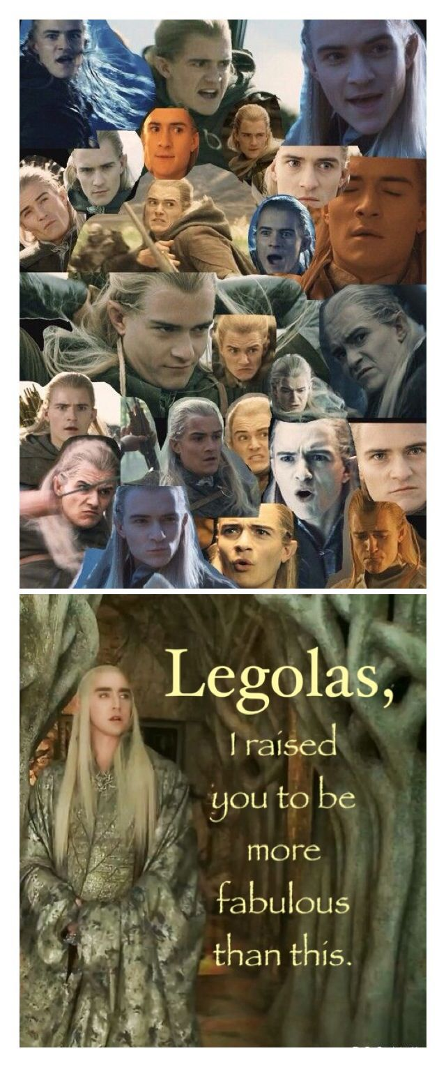 "So I was browsing Pinterest when I saw that top photo and thought, ""Hm, I wonder what Thranduil would think of everything his son has done."" This was the result. ~Samantha Morton <<< pinnned for that!  LOL"