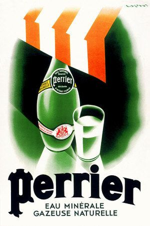 Perrier Vintage Posters Prints ……re pinned by Maurie Daboux ♪ ♪