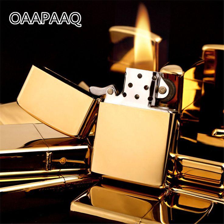 Fire Lighter Stainless Steel Kerosene Oil Lighter Gasoline Windproof Refillable Cigarette Metal Retro Men Gadgets Bar Lighters