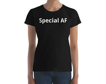 Special AF- Women's Jersey Knit T-Shirt - WTE - Edit Listing - Etsy