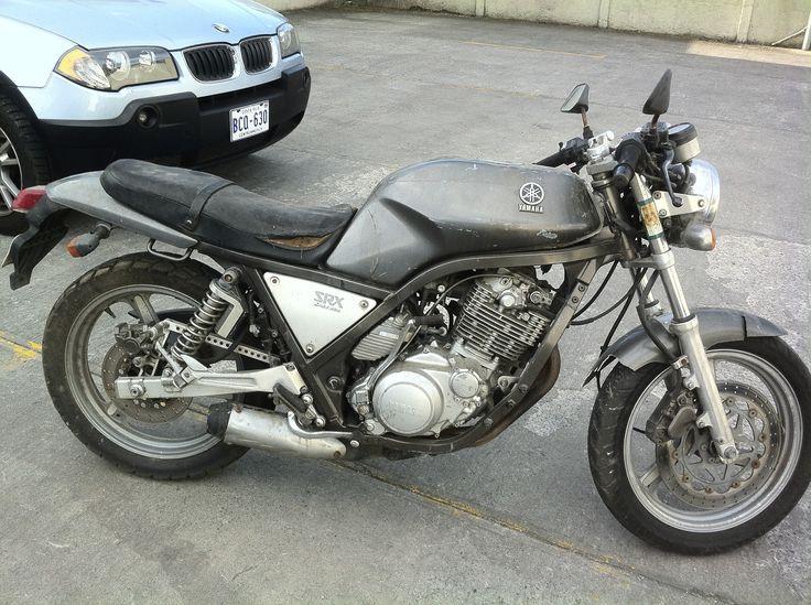 bought this for $300.... the restoration begins. yamaha srx 400 cafe racer