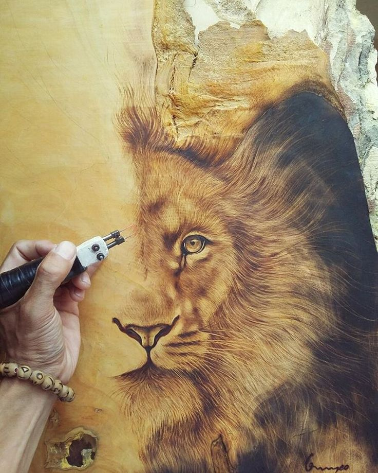 pyrography art  by me .                                                                                                                                                      More