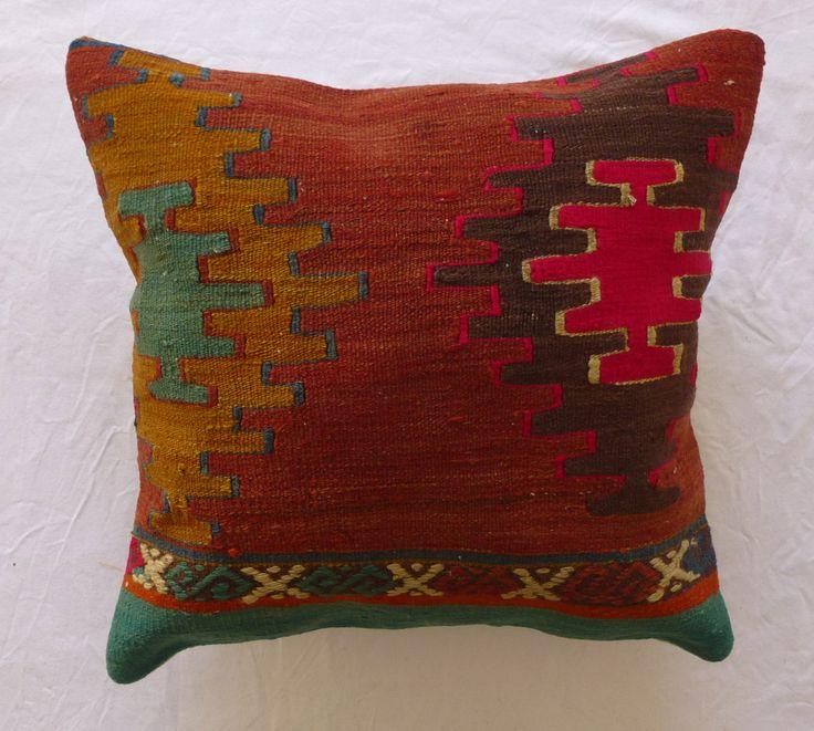Kilim Rug Throw Pillows : Kilim Decorative Throw Pillow Wool Hand woven by PillowTalkOnEtsy, $48.00 Wolf Pinterest ...