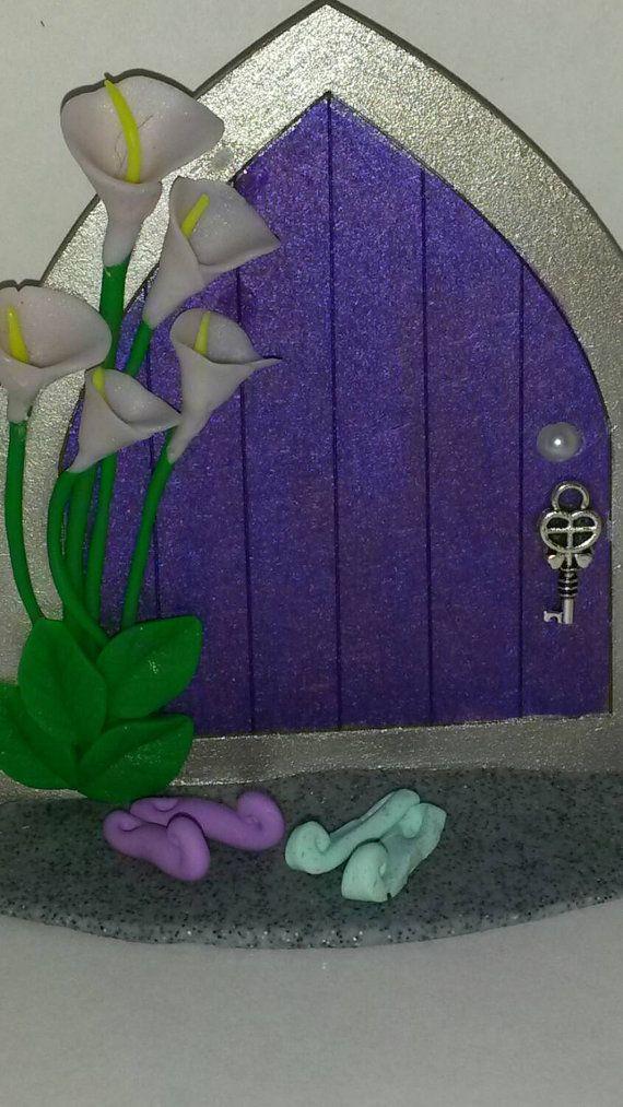 Purple fairy door fairy door gnome door by magikallittlethings