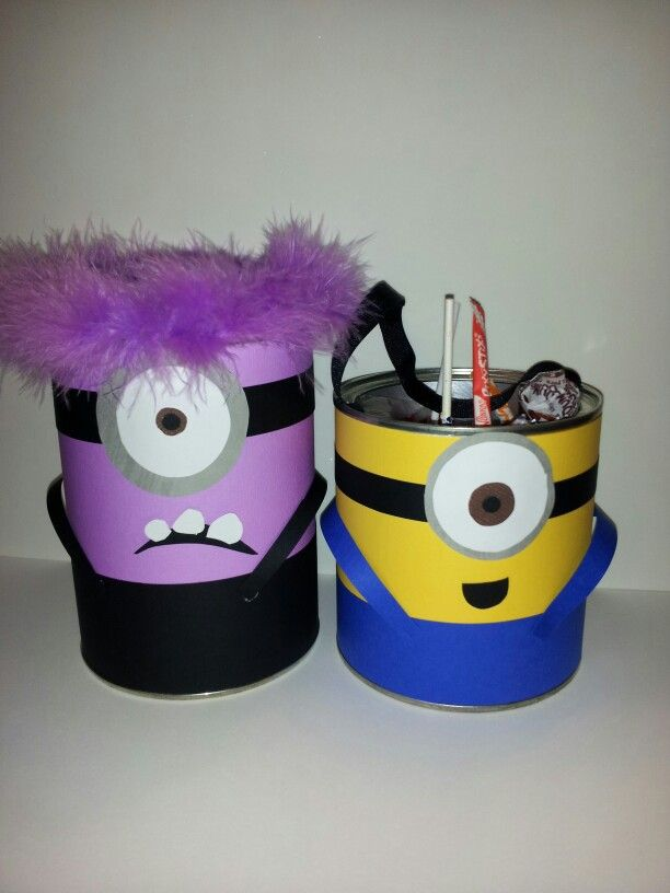 Minions! Made from recycled coffee and formula cans