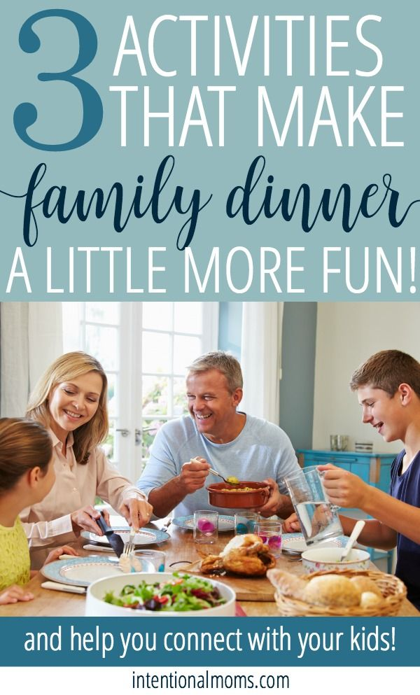 3 FUN family dinner activities - to help you bring a little more laughter to the dinner table AND connect with your kids, all at the same time.