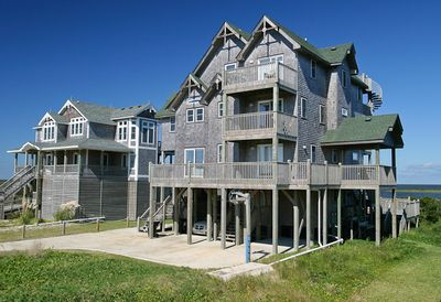 Frisco vacation rentals ambrosia wind soundfront outer for Hatteras cabins rentals