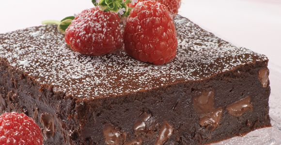 Chocolate brownies - recipe in Norwegian by Cacas.no