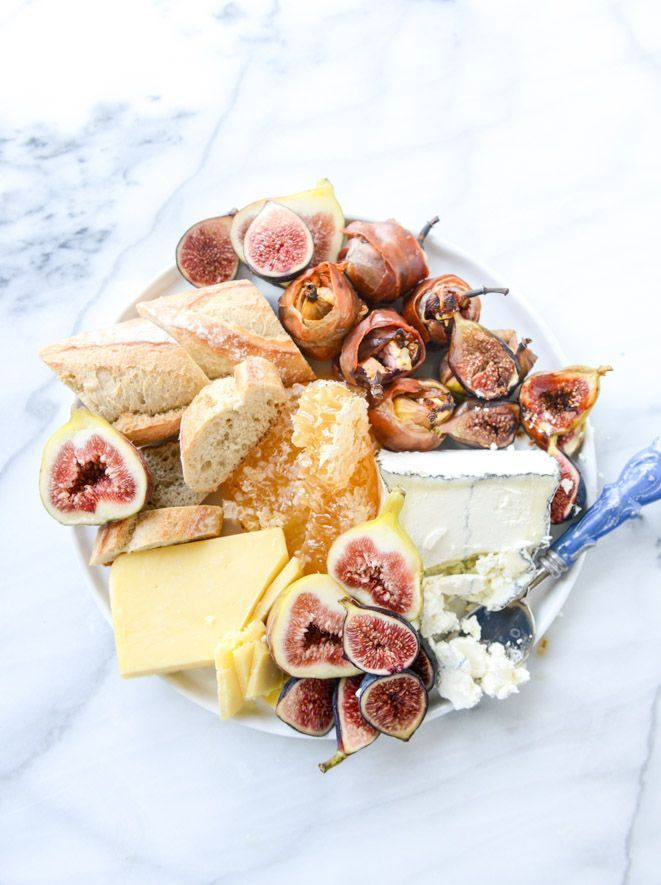 Roasted goat cheese stuffed figs + an easy summer cheese plate- Love it!