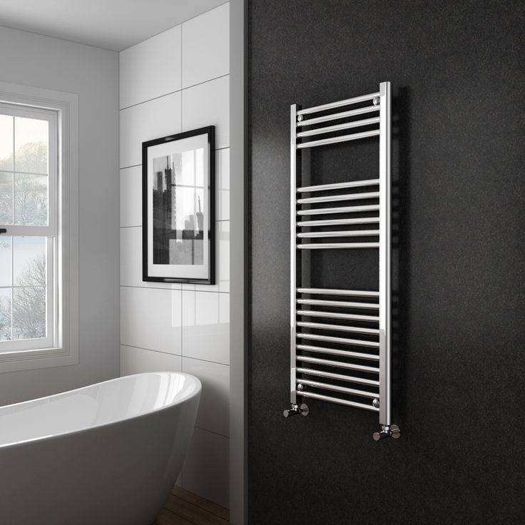Diamond Heated Towel Rail W500 X H1200mm Chrome