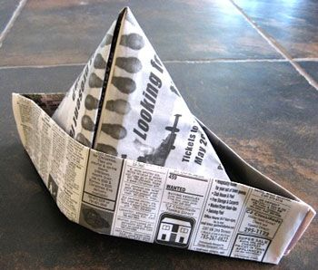 Newspaper Hat Just made one of these for my grandson!