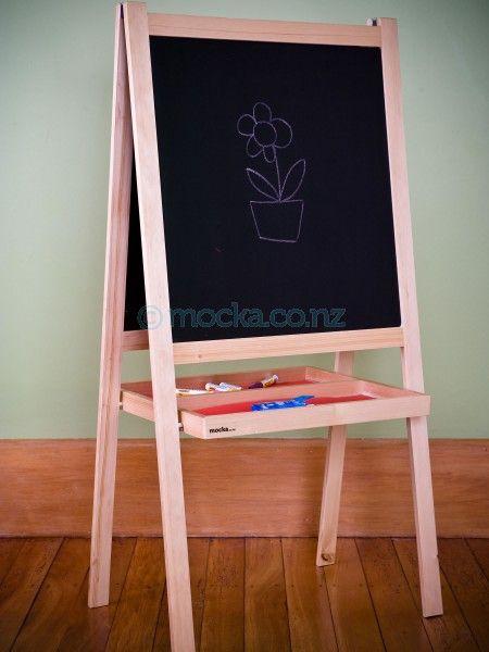 Mocka Kids Art Easel with Blackboard $70
