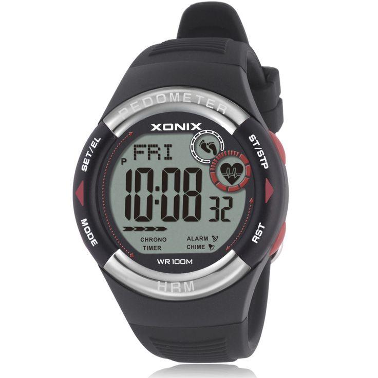 XONIX Шагомер Heart Rate Monitor Калорий ИМТ Мужчины Спортивные Часы Водонепроницаемые 100 м Женщины Цифровые Часы Работает Дайвинг Наручные Часы #men, #hats, #watches, #belts, #fashion, #style