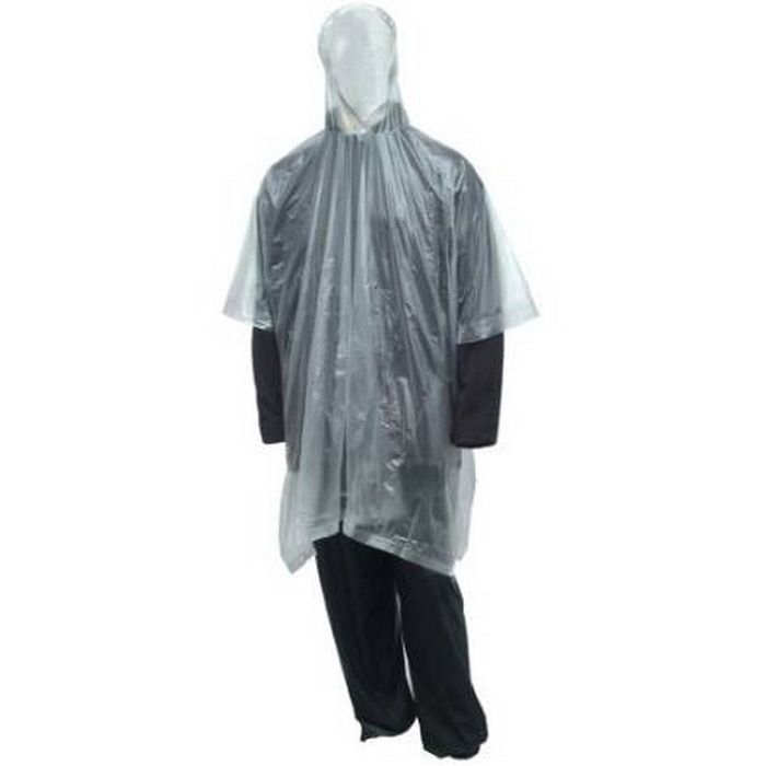 Tingley Clear Poncho with Attached Hood and Side Snaps