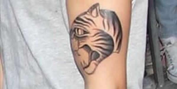 Justin Bieber tiger arm tattoo  http://www.popstartats.com/justin-bieber-tattoos/jb-arm/tiger/