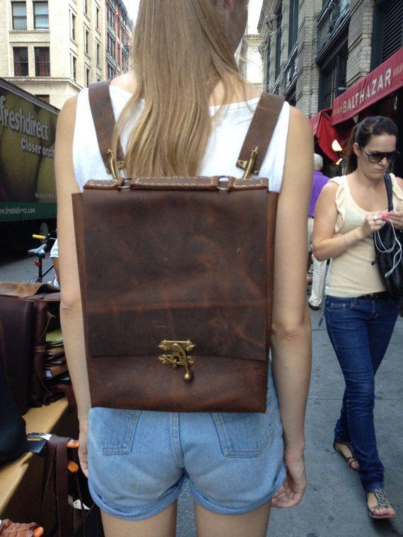 Leder Rucksack  LederRucksack für von LUSCIOUSLEATHERNYC auf Etsy, $299.00