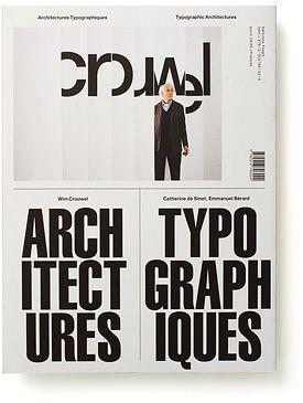 the invitation of 'Wim Crouwel: Architectures Typographiques 1956-1976'