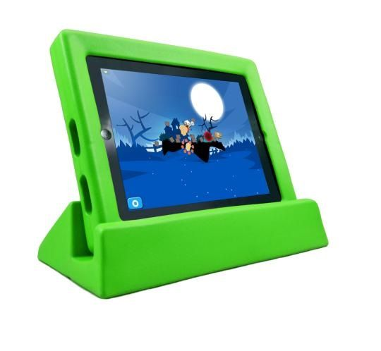 Koosh iPad Case with Stand. Great for protecting your iPad from drops and tumbles.Comes in Green, Blue, Red  $39.99 normally $59.95