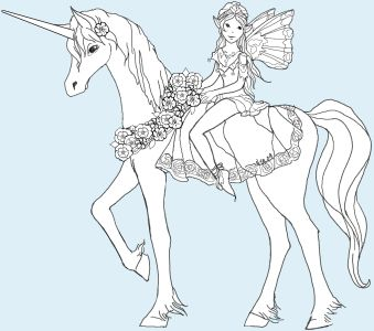 unicorn coloring page see more unicorn and rider puppet instructions free printable with unicorn parts and fairy parts to