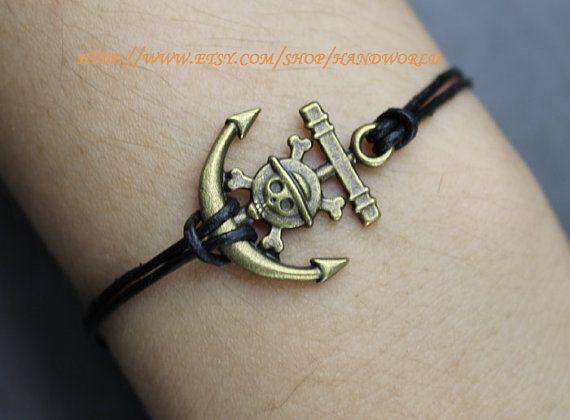 bronze vintage bracelet pirate anchor bracelet bracelet cute little anchor…