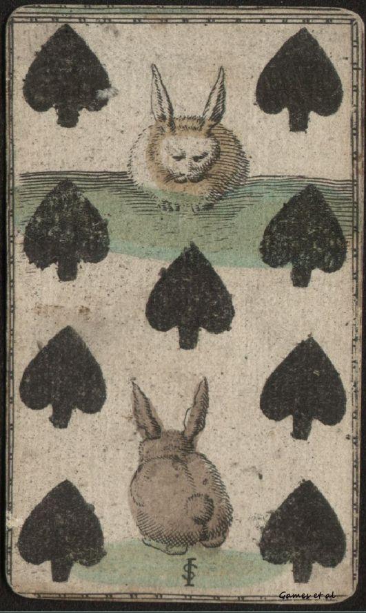 Playing Card | White Rabbit - Black Spades