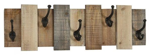 CROCHET+MURAL+CLOTURE+EN+BOIS+:+Plaque+murale+en+forme+de+clôture+de+bois+avec+5+crochets+de+métal+noir. Plus Plus