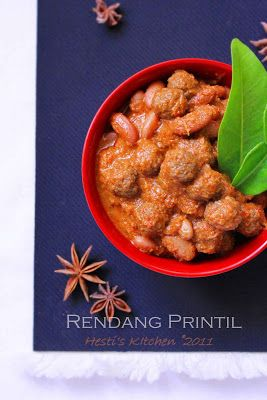 HESTI'S KITCHEN : yummy for your tummy: Rendang Printil