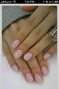Nail Art to Try: Nude Nails | Rounded acrylic nails and ...