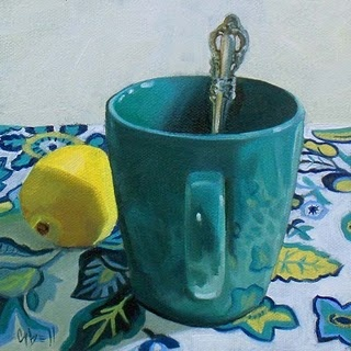 Teal Mug by Gwen Bell  *just because we have similar silverware at home <3