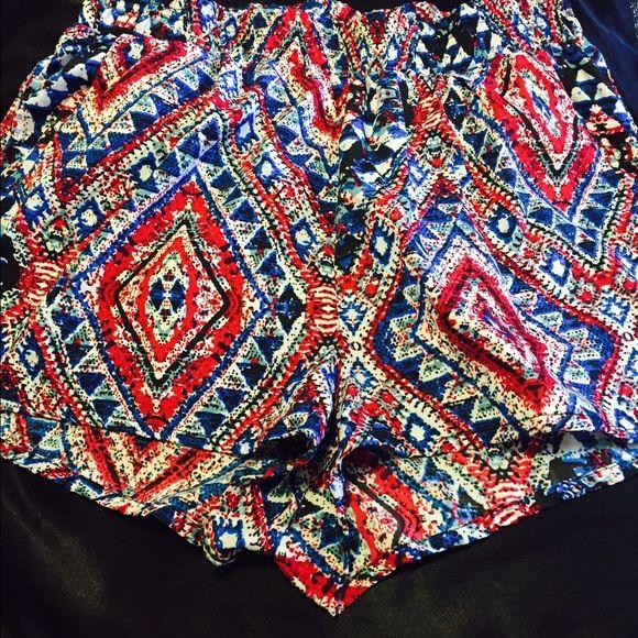 Aztec Tribal Shorts Size Medium Aztec Multi-Color Tribal Shorts Super comfortable! Bundle & Save! Shorts