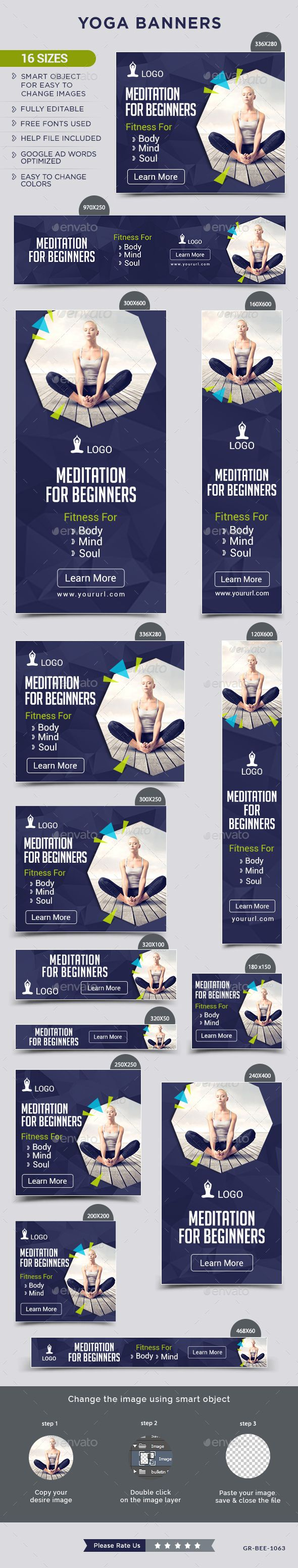 Design google banner ads - Yoga Banners